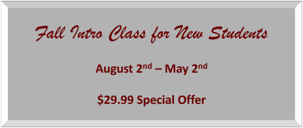 Intro Class Offer